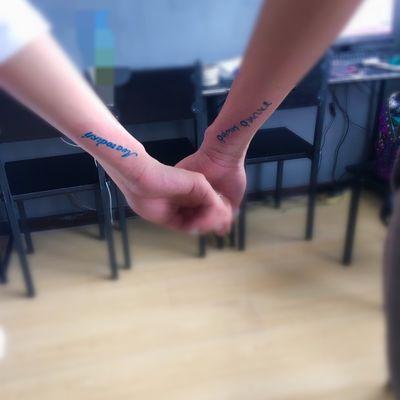 情侣字母纹身图