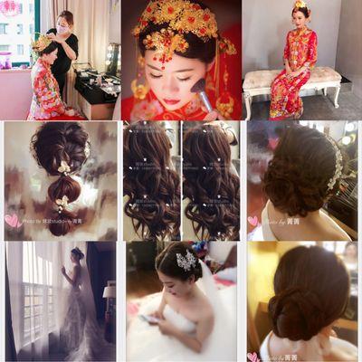 新娘跟妆美甲图