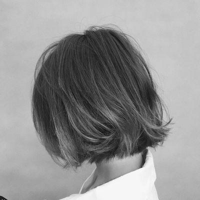 烟灰色效果图-大众点评发型大全