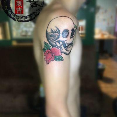 骷髅纹身款式图