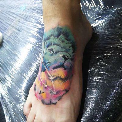 狮子座纹身款式图