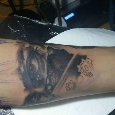 写实进行中纹身款式图