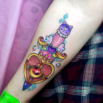 彩色卡通纹身图
