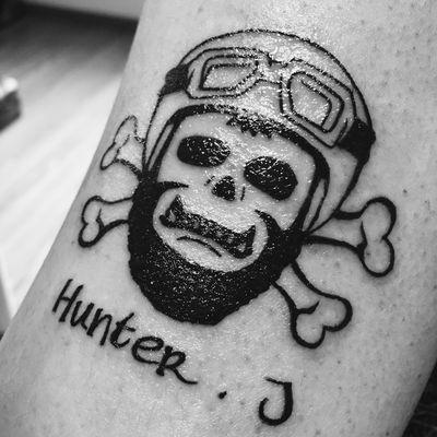 骷髅头纹身图