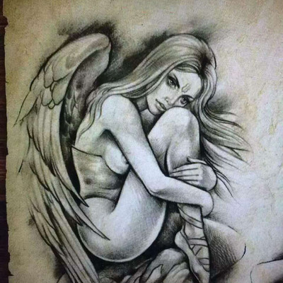 天使纹身图