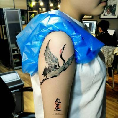 彩色水墨纹身款式图