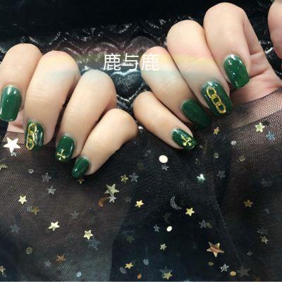 酷绿美甲款式图