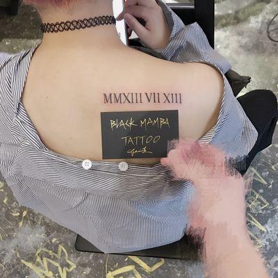 罗马字纹身款式图
