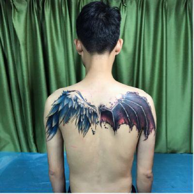 天使与魔鬼纹身款式图