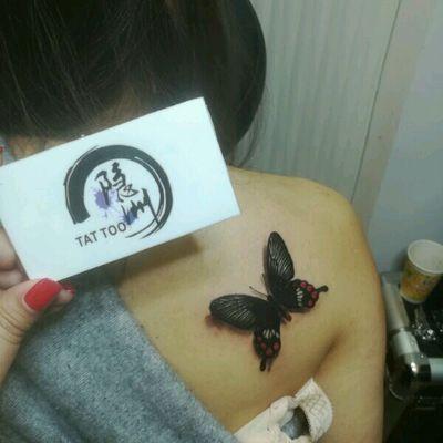 蝴蝶纹身款式图