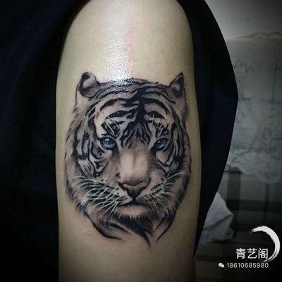 写实老虎纹身款式图