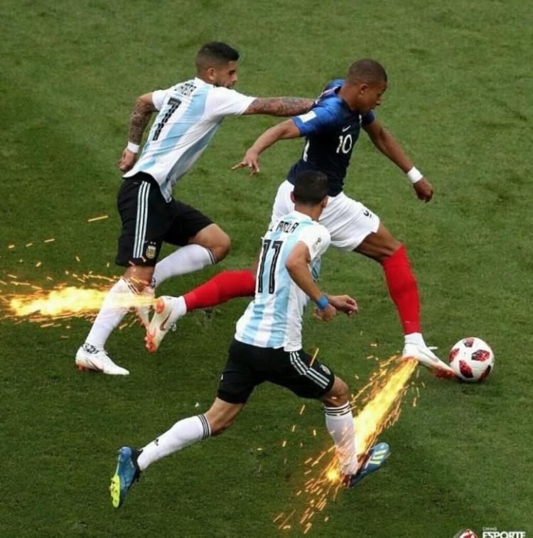 他是世界杯闪电侠,法国小将飞速进2球,梅西阿根廷回家