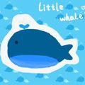 练习自游泳的小鲸鱼