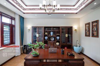 140平米别墅中式风格书房装修案例