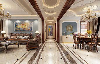 140平米三室两厅东南亚风格走廊欣赏图