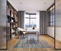 130平米现代简约风格书房欣赏图