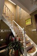 5-10万110平米复式混搭风格楼梯装修案例