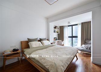 富裕型90平米三室两厅北欧风格卧室飘窗装修案例