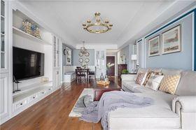 120平米三室兩廳美式風格客廳裝修效果圖