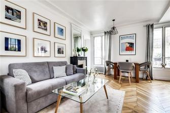 60平米一室两厅现代简约风格客厅效果图