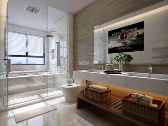 豪华型140平米别墅现代简约风格卫生间背景墙效果图