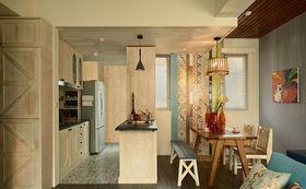 80平米田园风格餐厅设计图