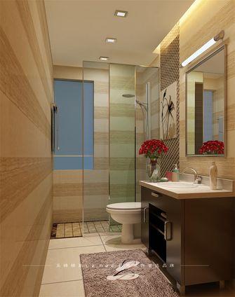 富裕型100平米三室两厅现代简约风格卫生间浴室柜装修图片大全