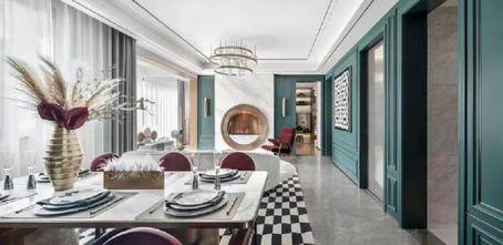120平米三室两厅田园风格餐厅图片大全