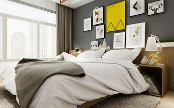 富裕型90平米北欧风格卧室背景墙装修图片大全