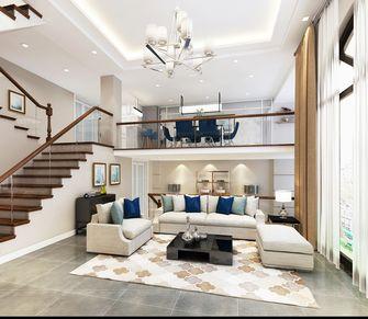 140平米别墅现代简约风格客厅背景墙设计图