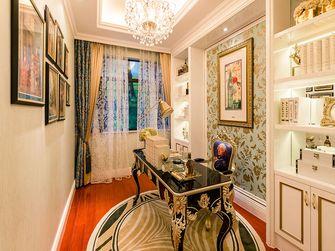 110平米三室一厅欧式风格书房欣赏图