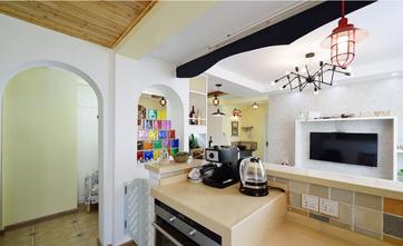 90平米三室两厅地中海风格厨房装修案例