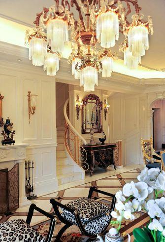 富裕型140平米别墅法式风格楼梯图