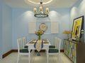80平米现代简约风格餐厅壁纸效果图