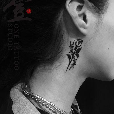 BLACK 玫瑰纹身款式图