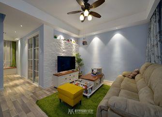 富裕型80平米复式欧式风格客厅装修图片大全