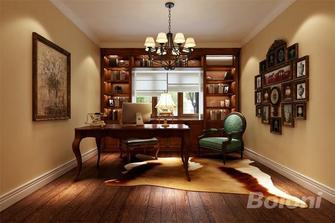 120平米三室一厅美式风格书房欣赏图