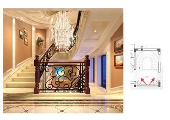 140平米别墅田园风格楼梯间效果图