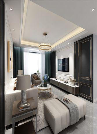 140平米三室一厅混搭风格客厅图