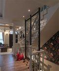 富裕型130平米三室两厅混搭风格楼梯设计图