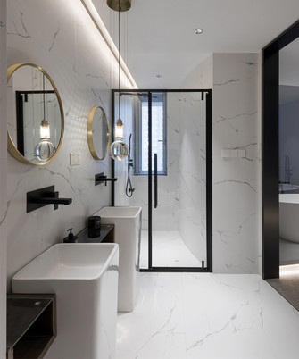 110平米公寓现代简约风格卫生间设计图