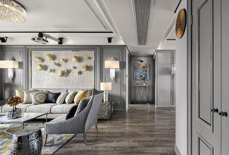 80平米三室两厅法式风格客厅设计图