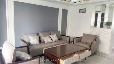 130平米三室一厅美式风格客厅装修案例