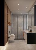 130平米三室两厅英伦风格卫生间装修效果图