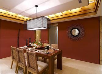 90平米三室三厅东南亚风格餐厅图