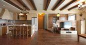 110平米四室四厅田园风格客厅装修图片大全