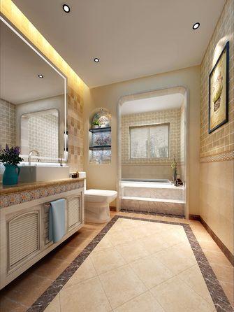 130平米三室两厅田园风格卫生间装修图片大全