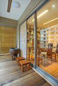 3万以下130平米三室两厅东南亚风格阳台图