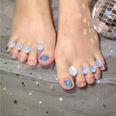 脚趾甲美甲款式图