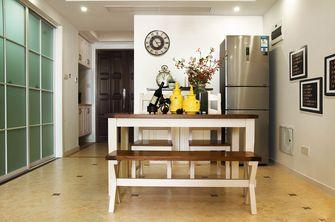 60平米一室两厅田园风格餐厅图